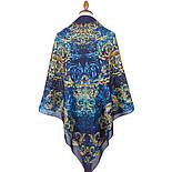 10826-14, павлопосадский платок из вискозы с подрубкой, фото 3
