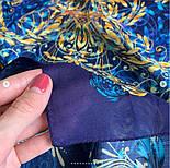 10826-14, павлопосадский платок из вискозы с подрубкой, фото 4