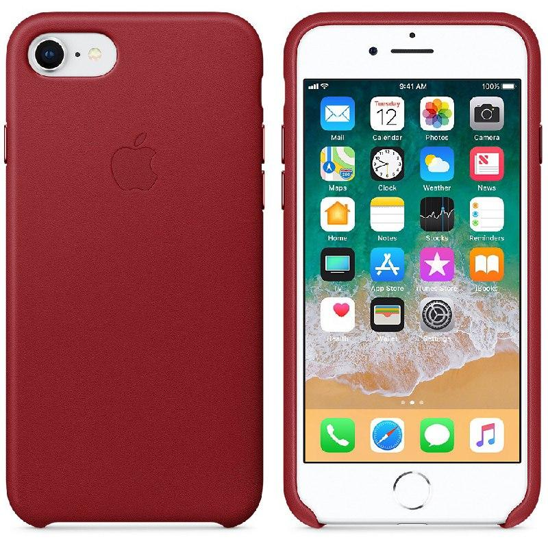 IPhone 7   Leather Case Red (Natural Leather)