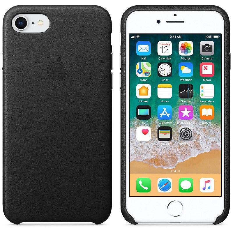 IPhone 7   Leather Case Black (Natural Leather)