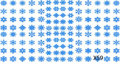 Слайдер дизайн для ногтей Снежинки