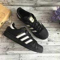 Кроссовки черные Adidas Superstar Black, фото 1