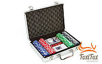 Набор для покера на 200 фишек без номинала, фото 1