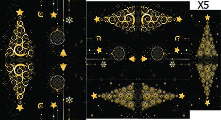 Слайдер дизайн для ногтей Елочки новый год