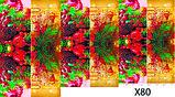 Слайдер дизайн для нігтів Ялинки новий рік, фото 6