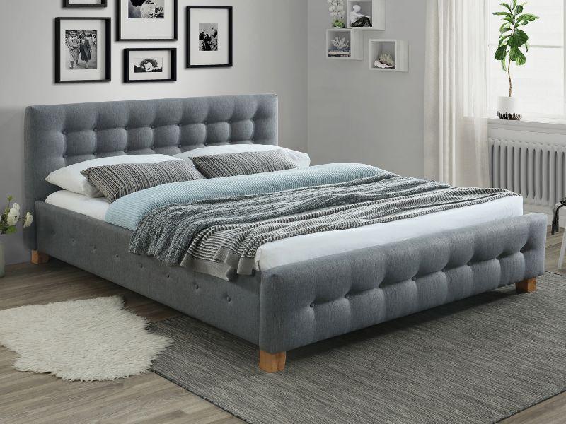 Кровать Signal Barcelona 160*200 серая ткань
