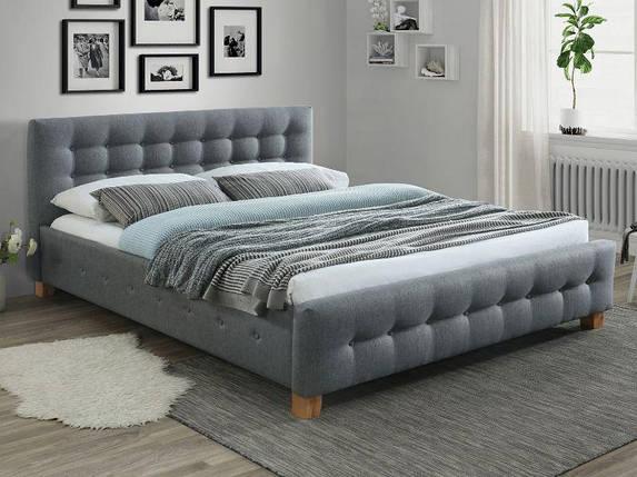 Кровать Signal Barcelona 160*200 серая ткань, фото 2