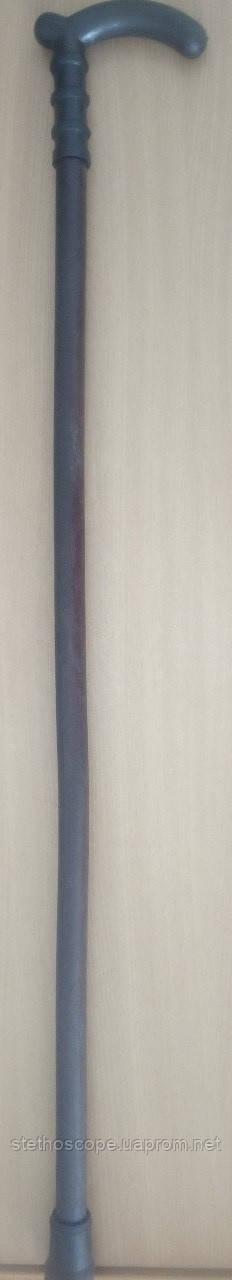 Трость деревянная лакированная, ручка пластмассовая.