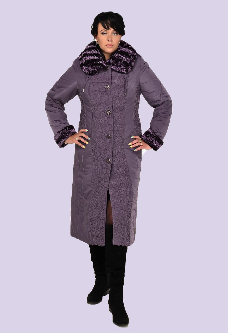 Зимнее пальто пуховик женское больших размеров