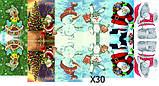 Слайдер дизайн для ногтей Снеговики Новый Год, фото 3