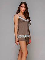 Женская пижама вискоза 5561R Цвет капучино Реал фото!