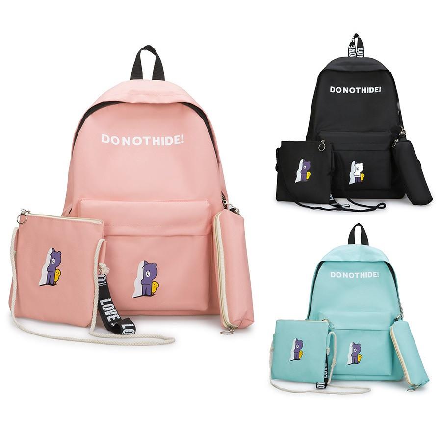 Рюкзак школьный +сумочка через плечо+пенал