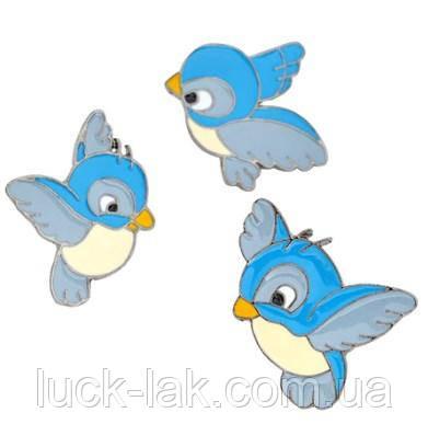 Пины, брошки набор 3 шт., птички