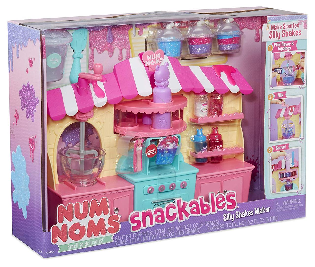 Num noms Набор Слайм фабрика для создания слаймов Snackables Silly Shakes Maker Playset Оригинал MGA