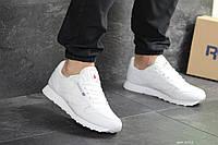 Кроссовки Reebok Classic мужские, белые, в стиле Рибок Классик, натуральная кожа, код SD-8115
