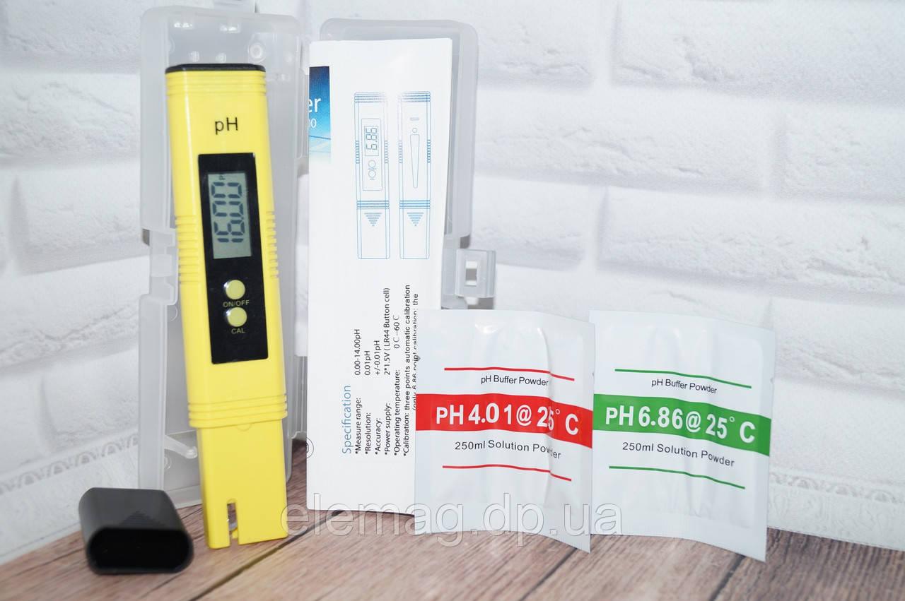 Электронный Ph метр измеритель кислотности в пластиковом боксе