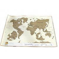 Настенная скретч карта в тубусе Scratch map Rus