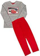 Комплект (кофта, штаны) Disney 140см Серый, Красный