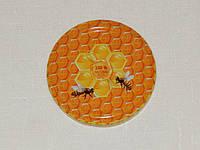 Крышка закаточная твист-офф размер 66 мм две пчёлки