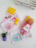 Комплект постельного белья куклы Барби в домик, Детская