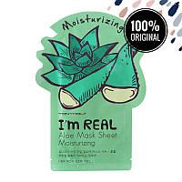 Увлажняющая тканевая маска для лица с алоэ TONY MOLY I'm Real Mask Sheet Aloe, 21 мл