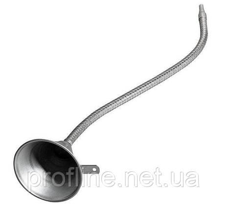 Воронка металлическая с гибким концевиком 630мм 3109 JTC, фото 2