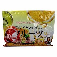 Курс натуральных масок для лица с фруктовыми экстрактами Japan Gals 30 шт (010973)