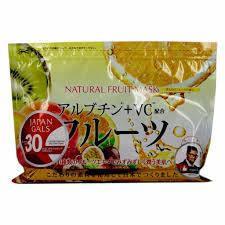 Курс натуральных масок для лица с фруктовыми экстрактами Japan Gals 30 шт (010973), фото 2