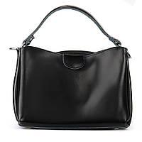 Женская сумка из натуральной кожи черного цвета молодежная, фото 1