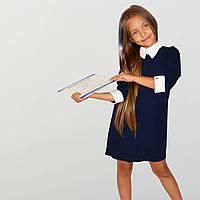 🌼Школьные платья для девочек с белыми манжетами, фото 1