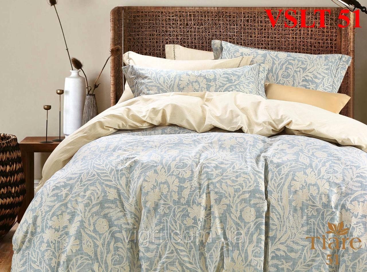 Постельное белье евро, сатин люкс Tiare Вилюта. VSLT Т51
