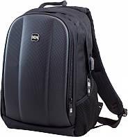 Рюкзак школьный Winner Stile 412 для подростков мужской на 2 отдела 40 х 28 х 16 см Черно-серый, фото 1