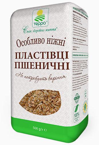 """Хлопья пшеничные нежные  0,5кг """"Терра"""""""