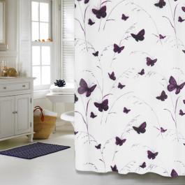 """Шторка для ванної кімнати """"Butterflies"""", 180*180см, ТМ МД"""
