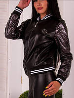 Куртка женская из эко-кожи  мкр1805, фото 1