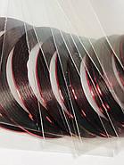 Маникюрная лента-скотч для декора ногтей красная, фото 2