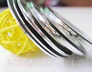 Лента-скотч для маникюра, серебро, фото 2