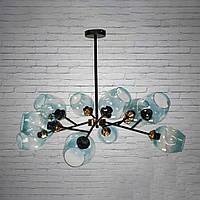 """Люстра """"молекула"""" в стиле лофт на 12 лампочек СветМира (черная) D-0071/12BL"""