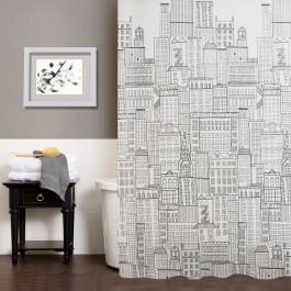 """Шторка для ванної кімнати """"City"""", 180*180см, ТМ МД"""