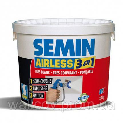 Semin Airless 3 en 1 финишная грунтовка шпаклёвка - краска 25 кг, фото 2