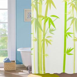 """Шторка для ванної кімнати """"Green Bamboo"""", 180*180см, ТМ МД"""