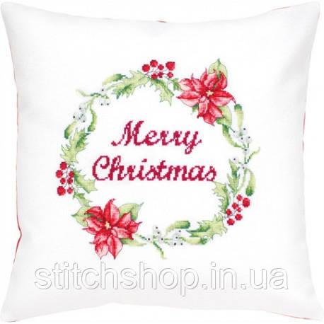 PB175 Різдвяний вінок. Luca-S. Набір для вишивання нитками