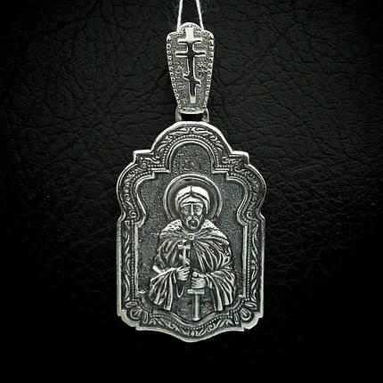 Срібна підвіска-ладанка Святий Олександр Невський, фото 2