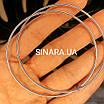 Серебряные родированные серьги кольца 65 мм - Серьги конго диам. 6.5 см серебро 925 пробы, фото 3