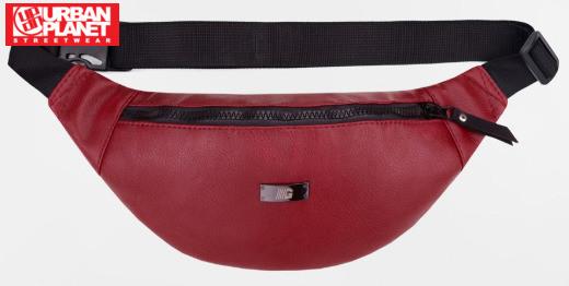 Сумка на пояс eco-leather  красная