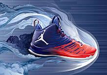 Мужские кроссовки Nike Air Jordan Super Fly Red/Blue 844677-404, фото 2