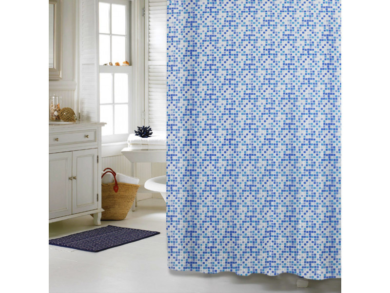 "Шторка для ванной комнаты ""Mosaik"", 180 * 180см, ТМ МД"