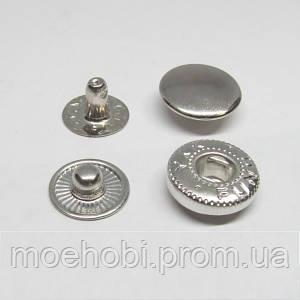 Кнопки альфа №54 (12.5мм) никель, 60шт 8215