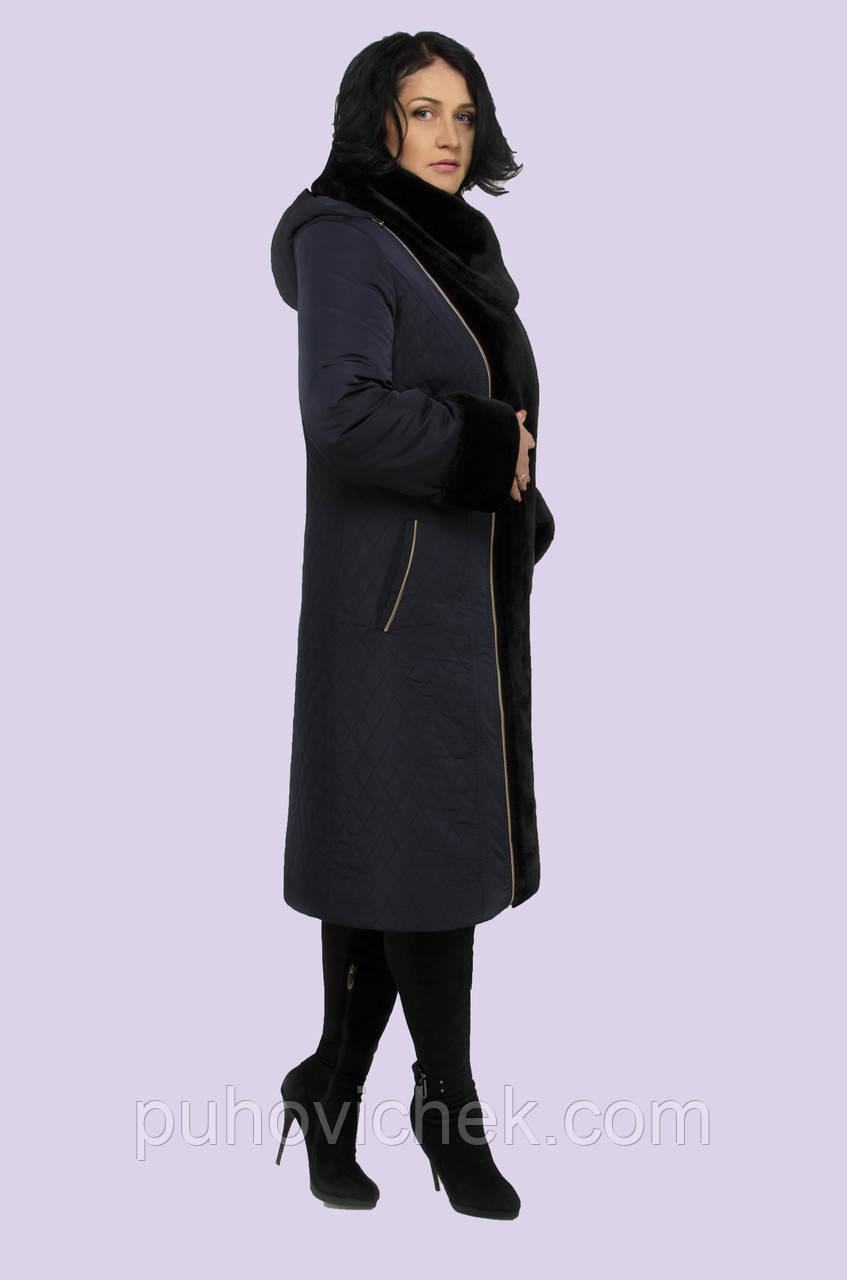 Пальто-пуховик женское