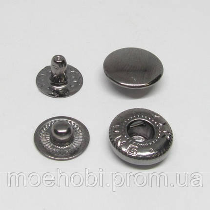 Кнопки альфа №54 (12.5мм) темный никель, 60шт 8215, фото 2